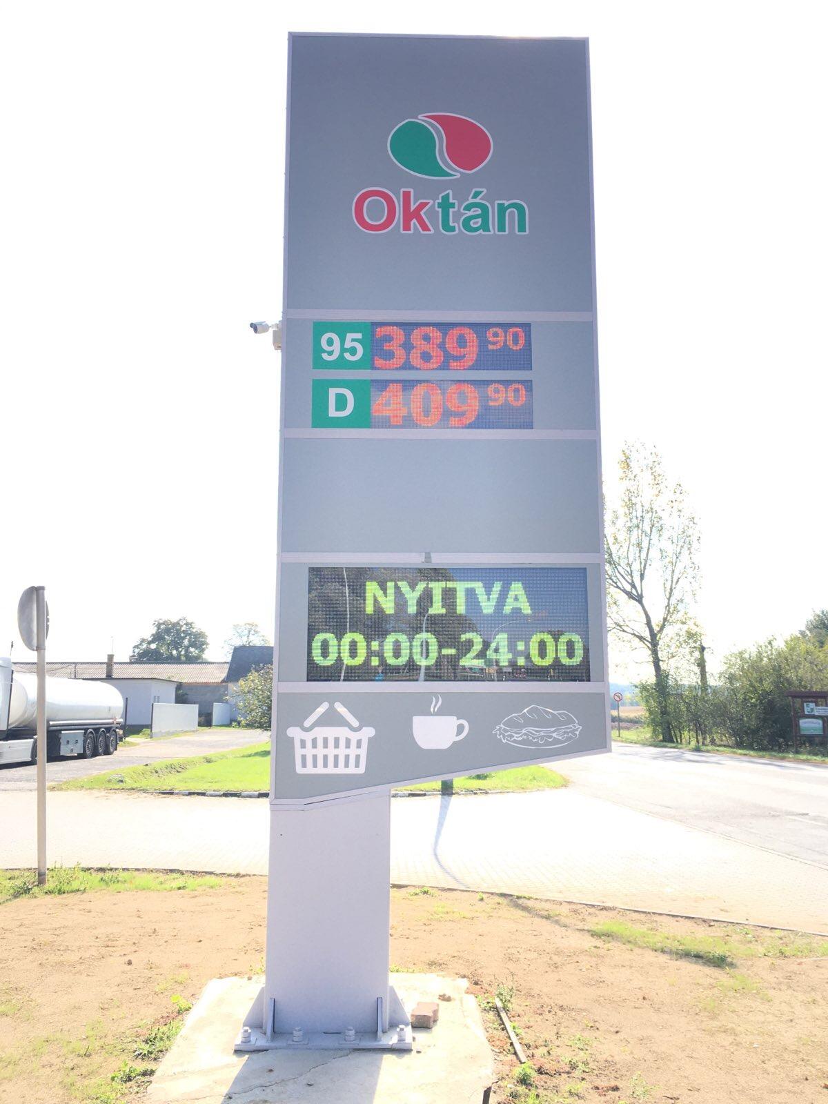 Benzinkút árkijelző, üzemanyag árkijelző, led kijelző, www.ledtrio (12)