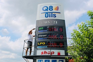 Benzinkút árkijelző, üzemanyag árkijelző, led kijelző, ledtrio (2)